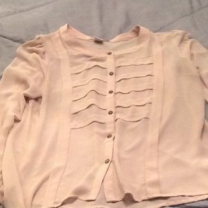 Long sleeve button down blouse